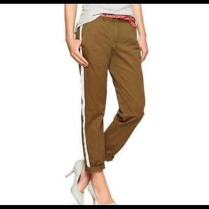 GAP Broke In Straight Tuxedo Stripe Khaki Pants 16